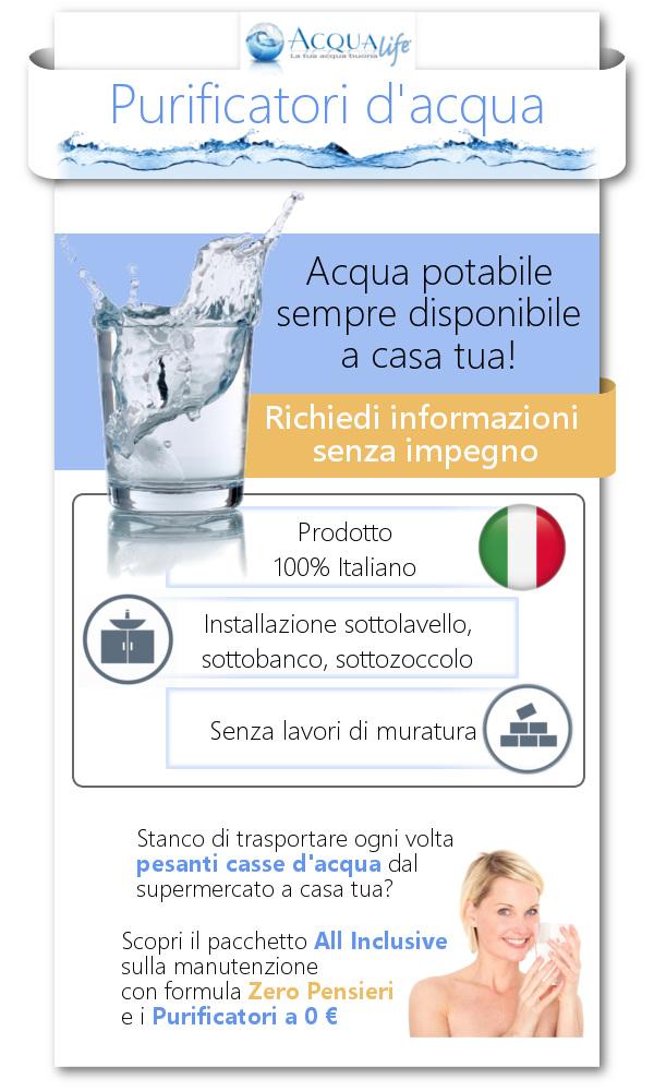 Purificatori d'acqua: per avere acqua potabile e fresca sempre presente a casa tua